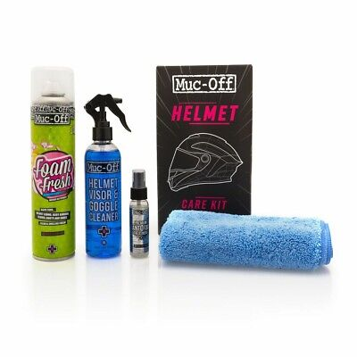 Muc Off Motorcycle Mountain bike Helmet Care Kit Anti Fog Visor Cleaner