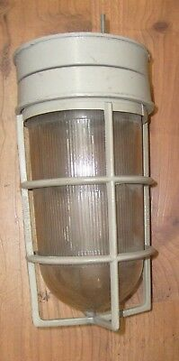 VTG Explosion Proof Light Fixture w/ Glass Globe Crouse Hinds Industrial Cage