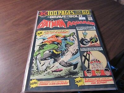 Brave and the Bold #114 DC 100 Page Special Vintage Aquaman Crossover Comic Book