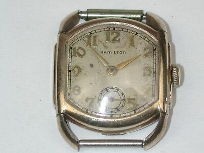 Hamilton Circa 1940 Model 987A YGF Men's Wristwatch.  35A