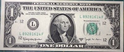 1963B Series $1.00 Federal Reserve Note Bill Dollar Uncirculated.....