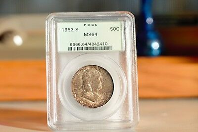 1953-S   Franklin Half Dollar    PCGS MS64