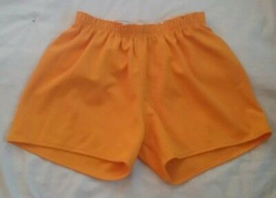 Vintage Russell Athletic Running Coaches Shorts Mens Yellow 1970S Large