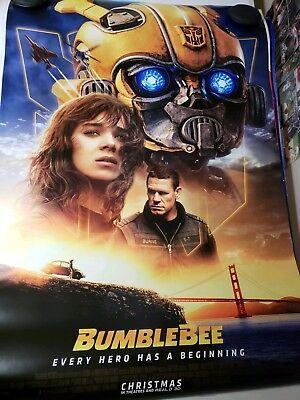 Bumblebee 27x40 Original Theater Double Sided Movie Poster 2018 Transformers