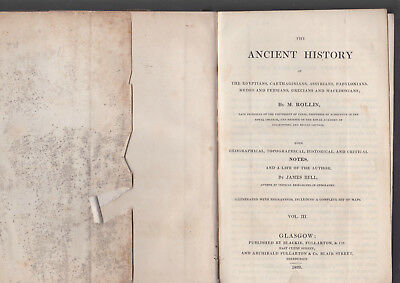 The Ancient History of the Egyptians, Carthaginians etc M Rollin 1829 Vol 3 only