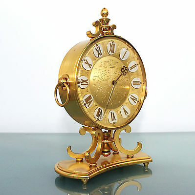 Vintage German JUNGHANS MEISTER! CLOCK Mantel JEWELED CHIME!! FULLY GILDED! Top