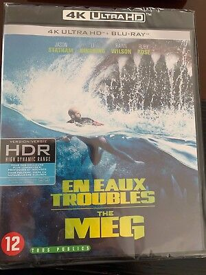 4K + Blu Ray + Digital  * En Eaux Troubles - The Meg * Neuf