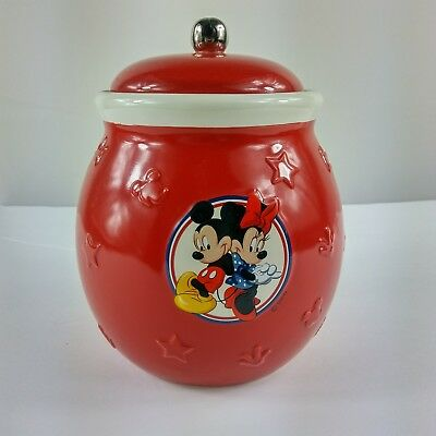 Disney Red Minnie/ Mickey Mouse Cookie Candy Jar
