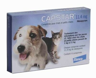 CAPSTAR Blue 6 Tablets for Dogs and Cats 2-25 lbs - FAST FREE SHIPPING -