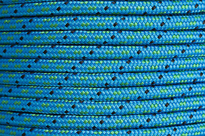 Polyester Double Braided Rope 8mm x 100m, Blue/Green Fleck