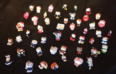 Vintage Hello Kitty Collectible Miniature Figurines  LOT OF 48!