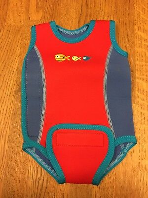 Baby wetsuit 3-6 months blue and red