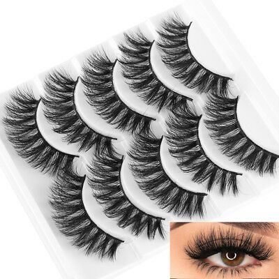 Long Handmade Thick Wispy Eye Lashes Extension False Eyelashes 3D Mink Hair