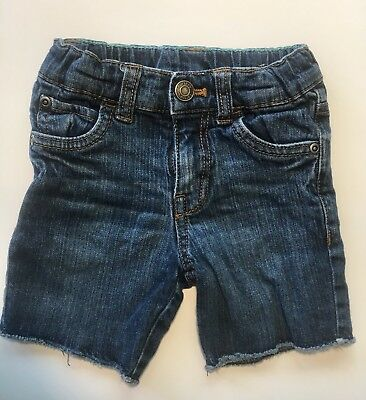 Boys Toddler Caters Denim Jeans Shorts Size 3T Adjustable Waist