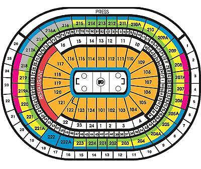 2 Philadelphia Flyers vs. Carolina  Lwr Lvl ROW 5 tickets SAT 4/6/2019