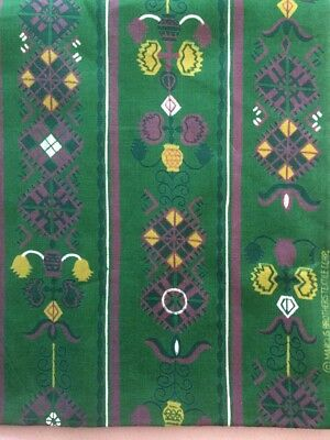 Vintage Green,Yellow,Purple Fabric by Marcus Brothers-New and Unused-70 inches