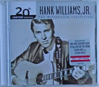 The Best of HANK WILLIAMS, JR. - CD - The Millennium Collection - BRAND NEW