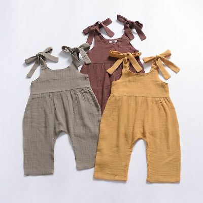 Baby Toddler Suspender Romper Shorts Boy Girl Overall Pants Trousers Outfits
