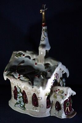 Blue Sky Clayworks Silent Night Church T Light Candle Holder Christmas Goldminc