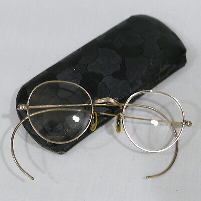 Vintage Squire Gold Tone Wire Rimmed Glasses and Case