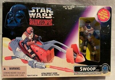 MINT 1996 Star Wars Shadow Of The Empire Swoop Vehicle With Swoop Trooper