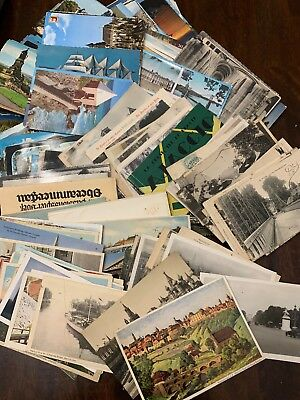 Lot of 50 Antique & Vintage Postcards,1900s-1970s. Used And Unused !!