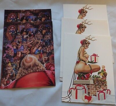 5 Olivia DeBerardini Christmas Cards, from the 1980's