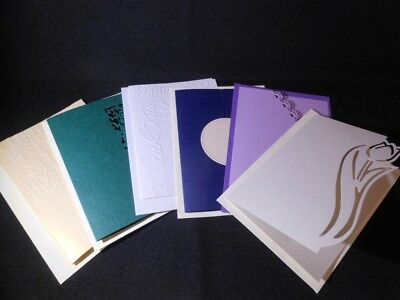 Blank Cards with Cut Outs or Embossing Inc Envelopes Various colours & Designs