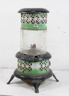 Antique/Vintage Rustic Perfection Oil Heater Metyal and Glass Decor