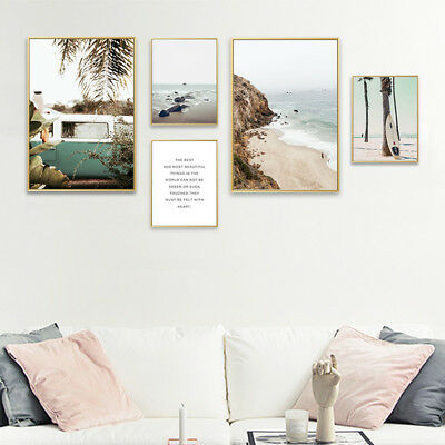 Sea Beach Landscape Wall Art Canvas Poster Print Nordic Style Picture Home Decor