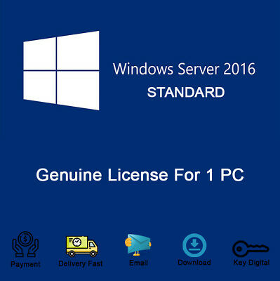 Genuine Windows Server 2016 STANDARD Download Link & Product Key