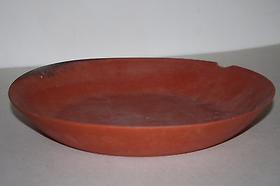 LARGE ANCIENT ROMAN POTTERY RED WARE PLATE 3/4th CENTURY AD