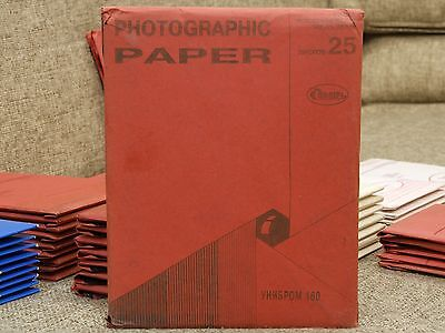 UNIBROM 160 photo paper B&W glossy cardboard smooth normal 25 sheets 18x24cm