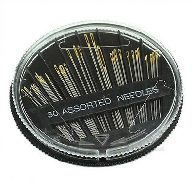 30PCS Assorted Hand Sewing Needles Embroidery Mending Craft Quilt Sew Case Hot