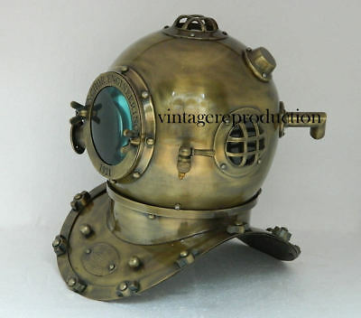 Vintage antique 18 Inch diving divers helmet deep sea anchor engineering 1921 ""