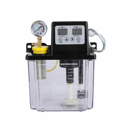 2L Automatic Lubrication Pump Electromagnetic Oil Pump Dual Digital Display 220V