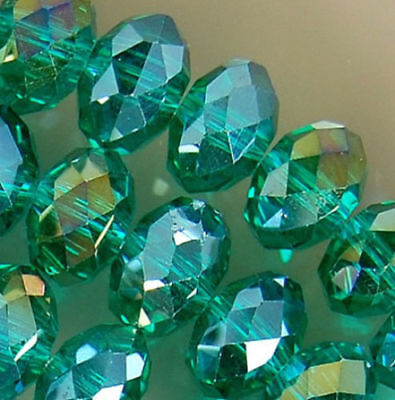 500pcs 3x4mm Faceted Emerald Czech Crystal Rondelle Spacer Loose Beads