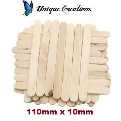 110x10mm Wooden Craft Stick Paddle Pop Popsicle Ice Cream Sticks Coffee Stirrers