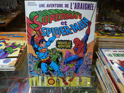 L'ARAIGNEE   N° 14  SUPERMAN ET SPIDER-MAN  éd LUG  MARVEL