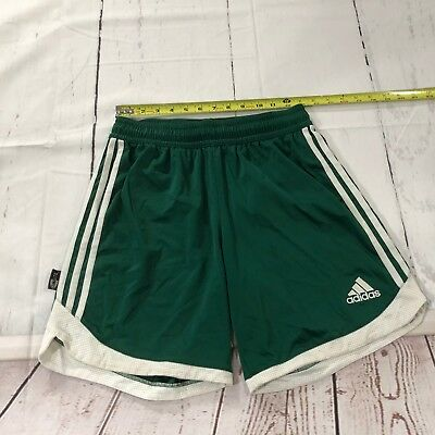 Adidas Men Running Sport Athletic Shorts Size Medium Green White - D163