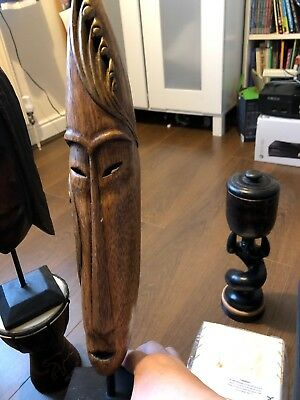 African Mask On Stand