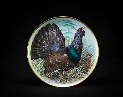 Sammelteller Franklin Porcelain Gamebirds of the World by Basil Ede