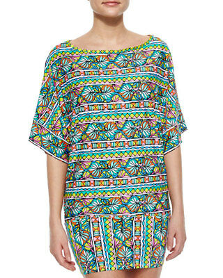cd32501043ef3 NWT  150 Trina Turk Bora Bora Resort Jersey Tunic Swimsuit Cover-Up Dress  Womens