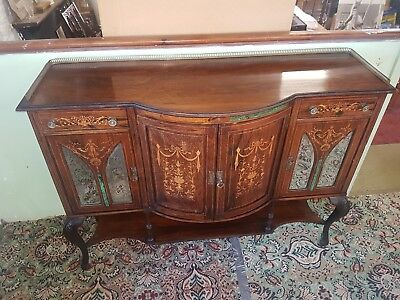 Victorian Rosewood and Marquetry Side Cabinet/sideborad