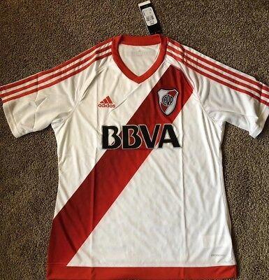 ADIDAS RIVER PLATE Home Soccer Jersey NWT Size L Argentina -  59.99 ... 1a51787e7