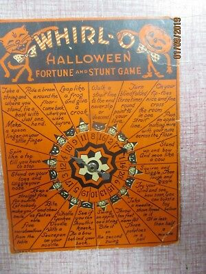 Vintage 1950s-60s Beistle Halloween Whirl-O Fortune and Stunt Game