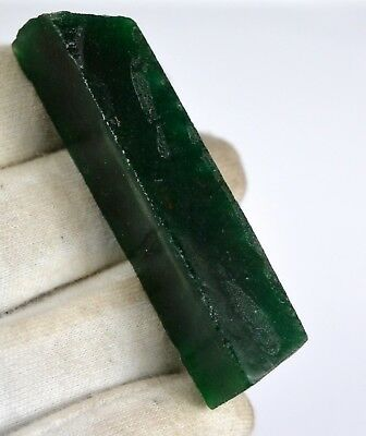 Green Emerald Gemstone Rough 146 Ct Natural Colombian 64 x 13 mm Certified E9021