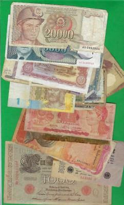 WORLD MIX > GERMANY, JAPAN ETC~ 25 x PAPER MONEY LOT # 2329 (*-*) POOR CONDITION