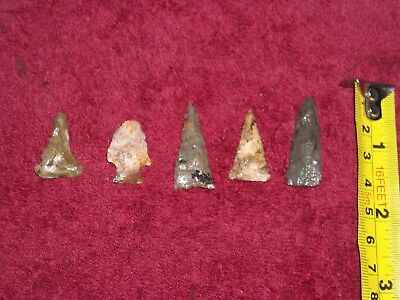 NATIVE AMERICAN arrow heads found IN Southern INDIANA GUARANTEED AUTHENTIC