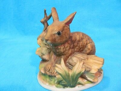 Vintage Ceramic Bunny Rabbit Figurine